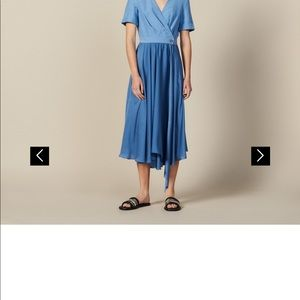 Sandro wrap dress in blue